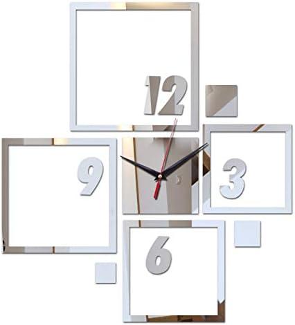 SKJH decoratie woonkamer kwarts ronde 3d spiegel muur klok diy