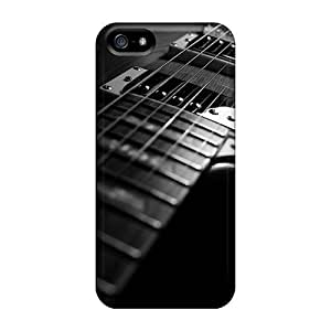 Case Cover, Fashionable Iphone 5/5s Case - Instruments Guitar Black White