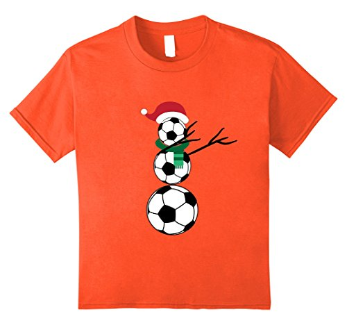 Kids Dabbing Snowman Christmas T-Shirt Soccer Player Coach Fan 8 Orange Orange Football Fan T-shirt