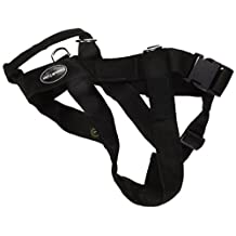 Dean & Tyler Universal No Pull Dog Harness with Adjustable Straps, Black, Large, Fits Girth Size: 79cm to 107cm
