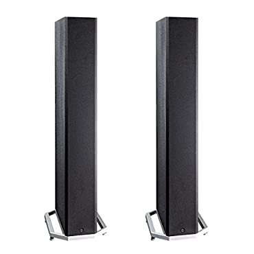 Definitive Technology BP9040 High Power Bipolar Tower Speaker with Integrated 8 Subwoofer Pair (Black)