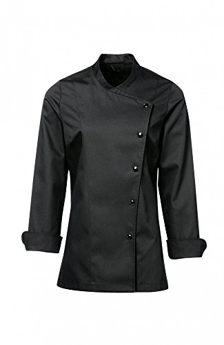 - Long Sleeves Women's Ladies Chef's Coat Jackets By Chef's Apparels (Black, S (To Fit Bust 34-35))