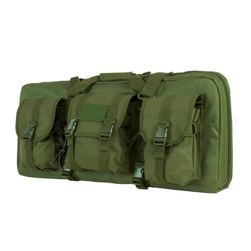 NcStar CVCPD2962G-28 Deluxe Pistol and Subgun Case, Green, 3 Accessory Pockets by NcSTAR