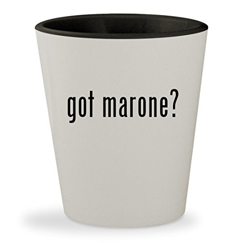 got marone? - White Outer & Black Inner Ceramic 1.5oz Shot Glass (Maron Ro)