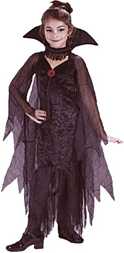 Girls Daughter Of Darkness Kids Child Fancy Dress Party Halloween Costume, S (Daughter Of Darkness Halloween Costume)