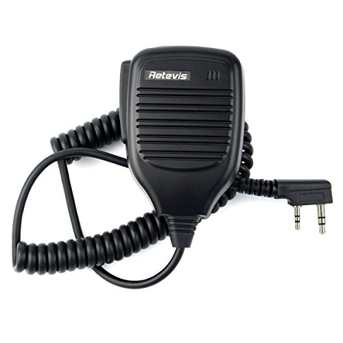 Retevis 2 Pin Speaker Mic for Baofeng UV5R Retevis H777 RT7 RT21 RT-5R Kenwood TYT HYT 2 Way Radio (1 - Speaker Mic
