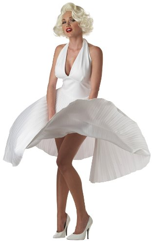 California Costumes Women's Adult Deluxe Marilyn, White, XL (12-14) (Pinup Halloween Costumes)