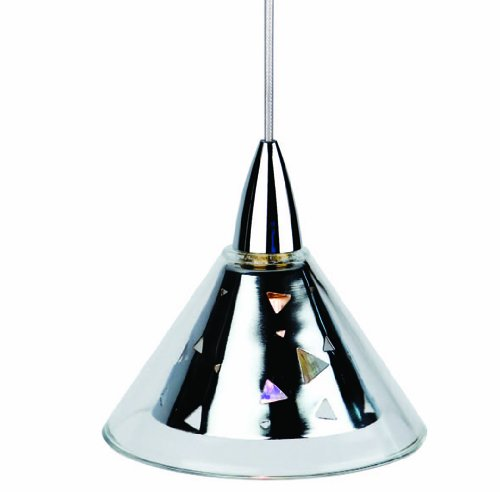 Celebrity series - Clear glass with metal cone single light pendant