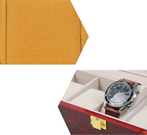 Ayanx - Scatola portaoggetti per orologi, in legno, per uomo e donna, con 2 cuscini standard
