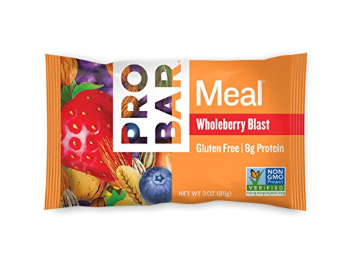 PROBAR - Meal Bar, Wholeberry Blast, 3 Oz, 12 Count - Plant-Based Whole Food Ingredients