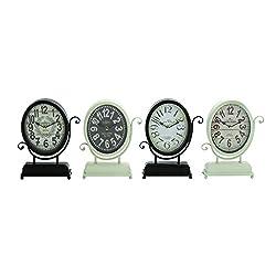 Plutus Brands Yangtze Smart Styled Metal Desk Clock 4 Assorted