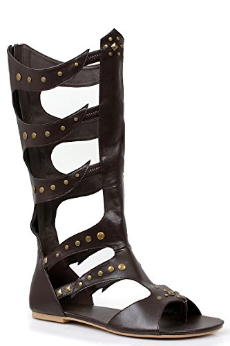 (Ellie Shoes Men's Knee-High Flat Sandal Sizes M BLK)