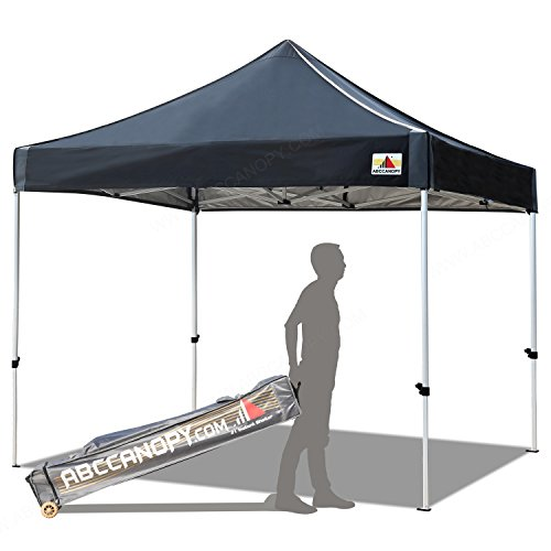 - ABCCANOPY Aluminum Canopy Tent 10x10 Deluxe Pop up Instant Shelter with Roller Carry Bag, Black