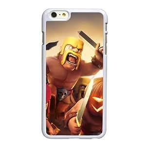 Clash Of W2S12 Clanes Juego C1A3NE ??funda iPhone 6 Plus 5.5 pufunda LGadas funda caja del teléfono celular cubren PH9SWD2IY blanco
