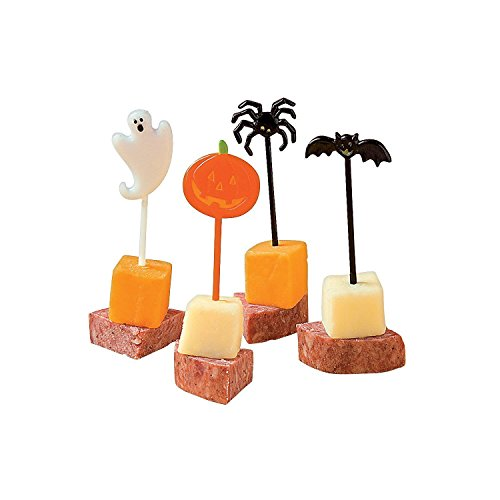 144 Pack of holiday Party Picks Perfect for Cupcakes and Appetizers by Bottles N - Themed Snacks Halloween