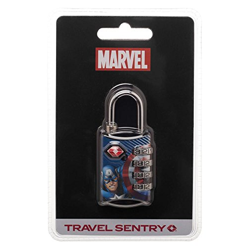 Marvel Comics Captain America TSA Approved Travel Luggage Combination Cable Lock by Bioworld