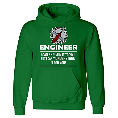 Engineer Occupations Mens Hoodie - Bricke Engineer I Can Explain It Funny Occupation Gag - Hoodie Irish Green