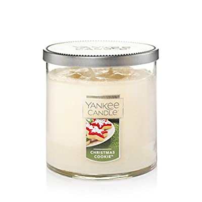 Yankee Candle Medium 2-Wick Tumbler Candle, Christmas Cookie - Vanilla, cinnamon, nutmeg, butter, and sugar: you'll find every irresistable note of freshly baked Christmas cookies in this memorable fragrance Premium-grade wax that delivers a clean, consistent burn 40-50 hours burn time - living-room-decor, living-room, candles - 411PGaGZEtL. SS400  -