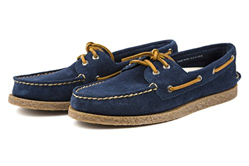 Sperry Herren A/O Faux Crepe Bootsschuhe Schnürer Blau US 9 Gr. 42