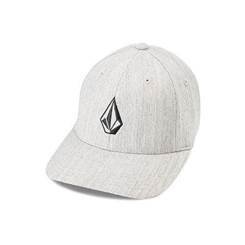 Volcom Men's Full Stone Flexfit Hat, Grey Vintage, Small/Medium