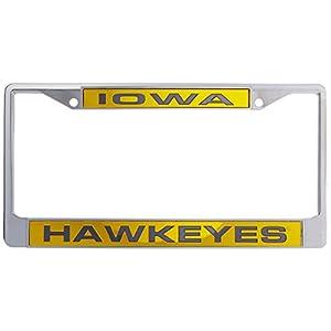 NCAA Iowa Hawkeyes Laser Cut Chrome Plate Frame