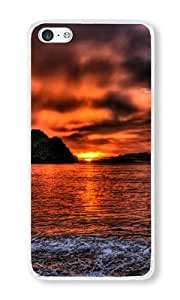 iPhone 5C Case Color Works Sea Mountains Sky Style b Transparent PC Hard Case For Apple iPhone 5C Phone Case