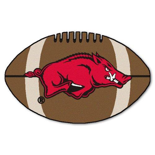 Fanmats NCAA University of Arkansas Razorbacks Nylon Face Football Rug ()