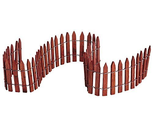 Wired Wooden Fence - Lemax Christmas Village Wired Wooden Fence 18 inch by Lemax