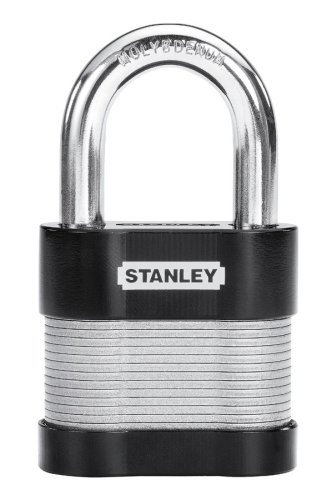 215aadf0d1bb Stanley Hardware 828244 2-1/2-Inch and 60-mm Laminated Security Lock, 1-1/2  Shackle
