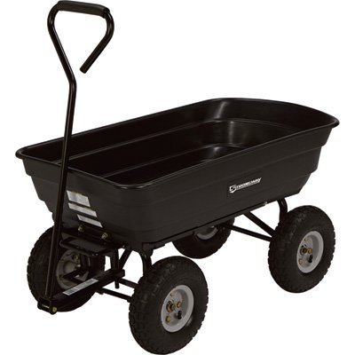 Strongway Dump Cart - 36in.L x 20in.W, 600-Lb. Capacity STR200B