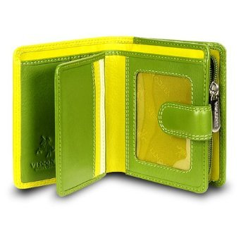 visconti-rb40-multi-colored-green-lime-cream-leather-ladies-wallet-and-purse-cluth