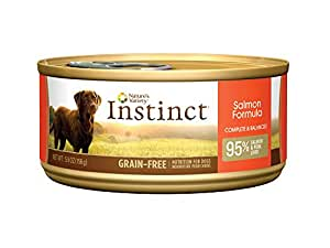Instinct Grain Free Salmon Formula Natural Wet Canned Dog Food by Nature's Variety, 5.5 oz. Cans (Case of 12)