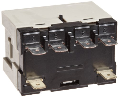 Omron G7L-2A-T-J-CB-AC24 General Purpose Relay With Test Button, Class B Insulation, Class B Insulation, QuickConnect Terminal, E Bracket Mounting, Double Pole Single Throw Normally Open Contacts, 71 mA Rated Load Current, 24 VAC Rated Load Voltage