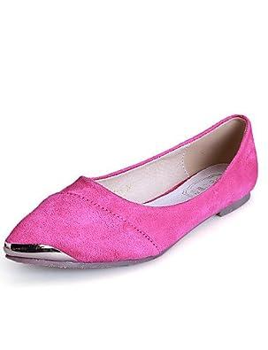 PDX/Damen Schuhe Wildleder Flach Ferse Komfort/spitz/geschlossen Zehen Wohnungen Kleid/Casual mehr Farben erhältlich, - red-us10.5 / eu42 / uk8.5 / cn43 - Größe: One Size