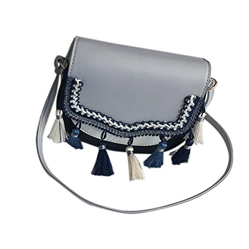 Family Crossbody Women Fring Gray Lady Purse Tote Top Ladies Handbags Bag Hobo Shoulder Satchel Handbags Clearance Purses Shoulder Over Bag Tassel Sale Tote Hot Handle Style JYC Messenger ZwqI7pX