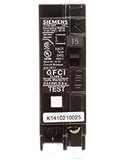Siemens 15 Amp Single Pole Ground Fault Circuit Breakers QF115