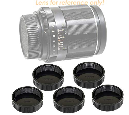 (5 Packs) Fotasy Lens Rear Caps for M42 42mm Screw Mount Lens, m42 Lens Cap, M42 Lens Rear Cap
