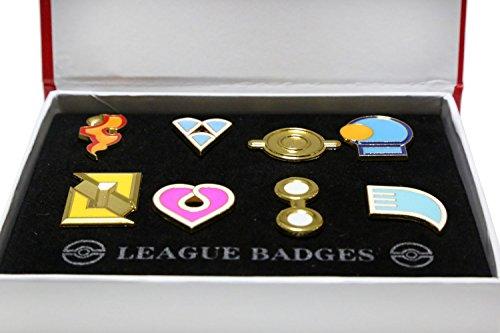 New Version V3 Ash Gym Badges Hoenn Gen 6 Badges Collection box Set of 8pcs 2017 ()