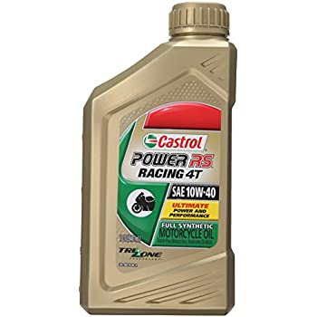 castrol power rs racing 4t 10w 40 full synthetic motorcycle oil automotive. Black Bedroom Furniture Sets. Home Design Ideas