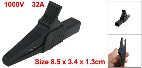 eDealMax Multimètre Fils de Test d'isolation Clip Alligator, 1000V 32A, Noir