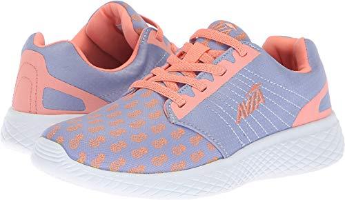 Avia Girls' Avi-Kismet Sneaker, iced Periwinkle/Coral Glow/Violet Stone, 11 M US Little Kid
