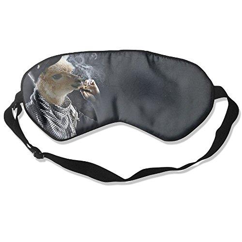 Sleep Mask Llama Smoking Eye Cover Blackout Eye Masks,Soothing Puffy Eyes,Dark Circles,Stress,Breathable Blindfold by MB32