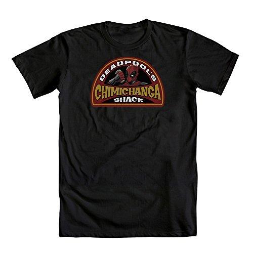 Marvel Deadpool Chimichanga Shack Adult Black T Shirt  Adult X Large