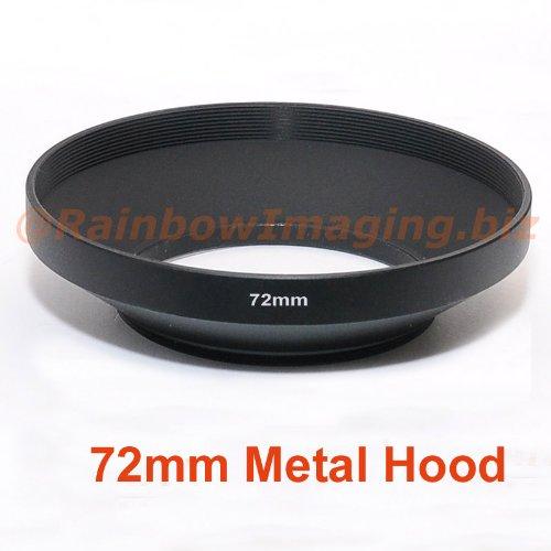 RainbowImaging 72mm Wide Metal Hood for 24mm 28mm 35mm Wide lens