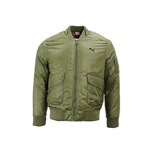 Puma Hombre Verde Cazadora de Aviador Militar Vuelo Chaqueta ...