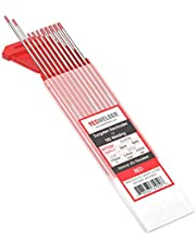 "10-pk TIG Welding Tungsten Electrode 2% Thoriated (Red, WT20) .040""-5/32""x7"""