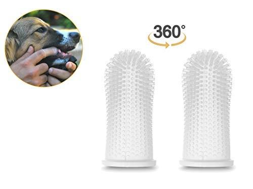 thbrush and Gum Massager - Ergonomic Design - Full Surround Bristles for Easy Cleaning - Set of 2 ()
