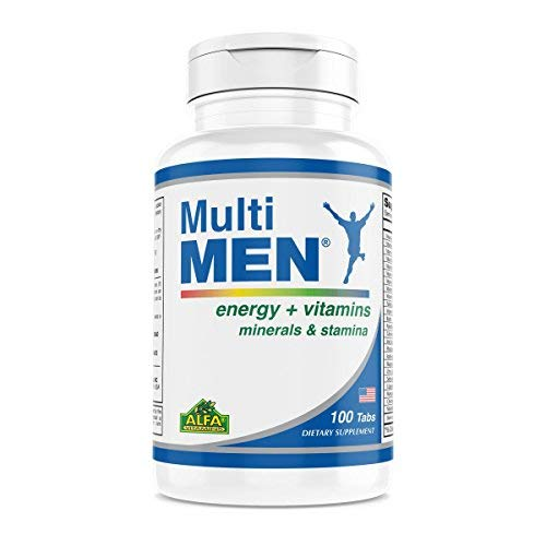 Multi Men 100 Tablets – Dietary Supplement – Vitamins & Minerals – Herbs – Amino Acids – Antioxidants