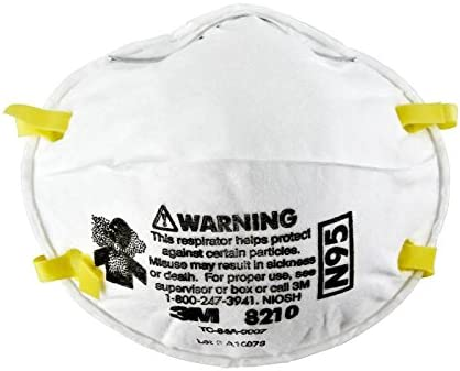 8210 Respirators Cup 3m Particulate - Style 20 N95 Standard Size