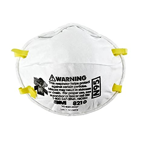 20 Standard Particulate N95 3m Respirators Cup - 8210 Style Size